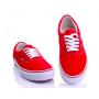 Vans Era red white (красные с белым)